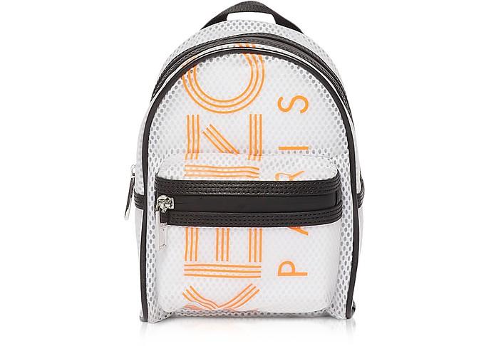 White PVC & Mesh Sport Logo Mini Backpack - Kenzo