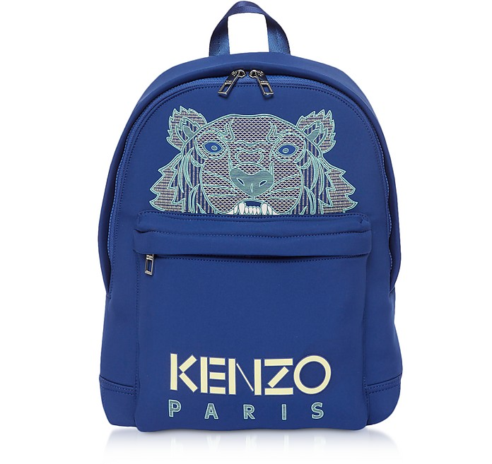 Navy Blue Kampus Neoprene Tiger Backpack - Kenzo