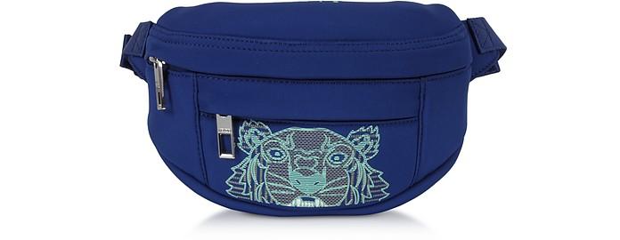 Navy Blue Kampus Neoprene Tiger Belt Bag - Kenzo