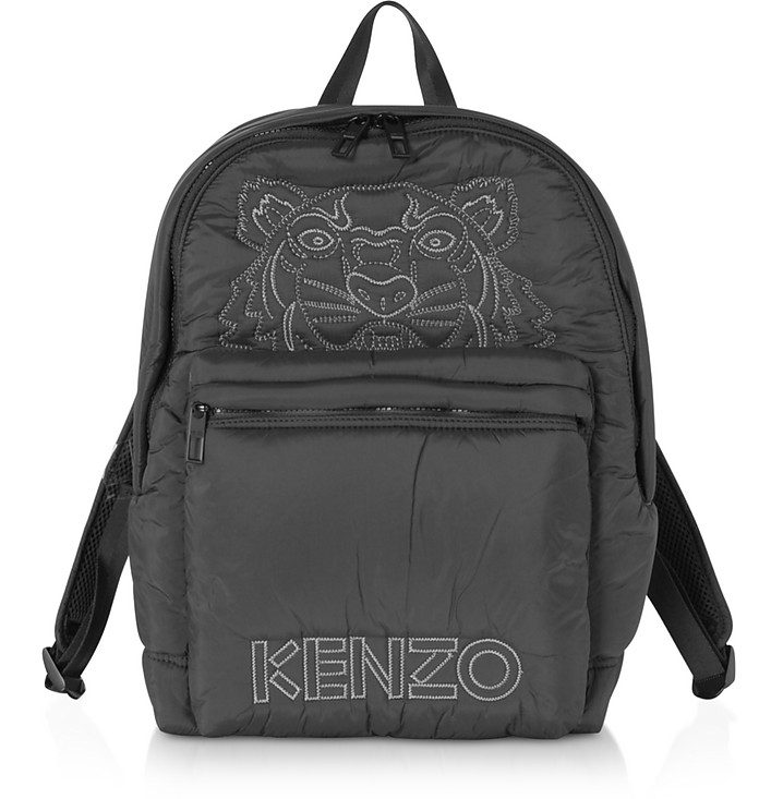 Black Nylon Doudoune Tiger Kampus Backpack - Kenzo