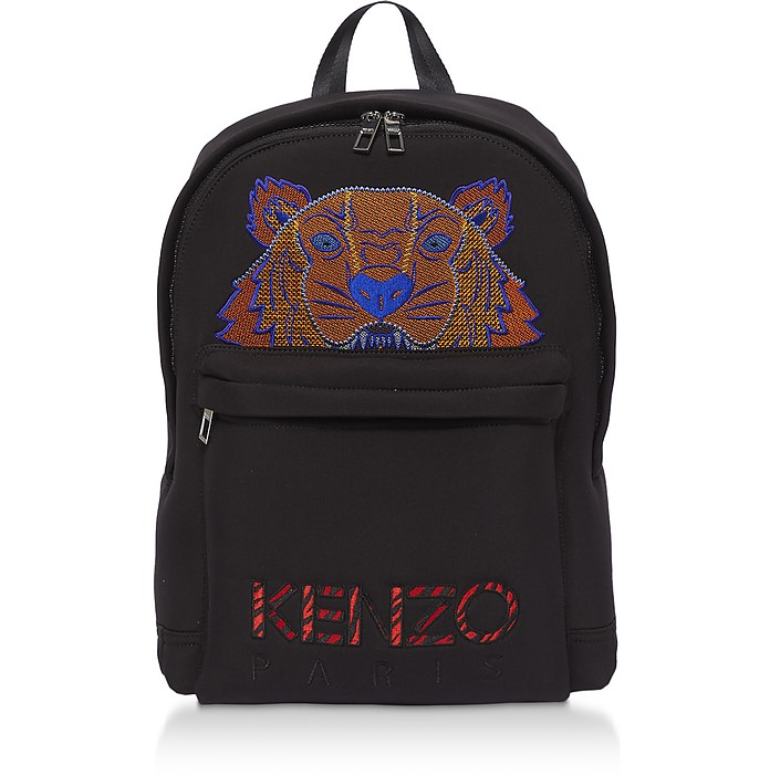 Black Neoprene Neon Tiger Backpack - Kenzo