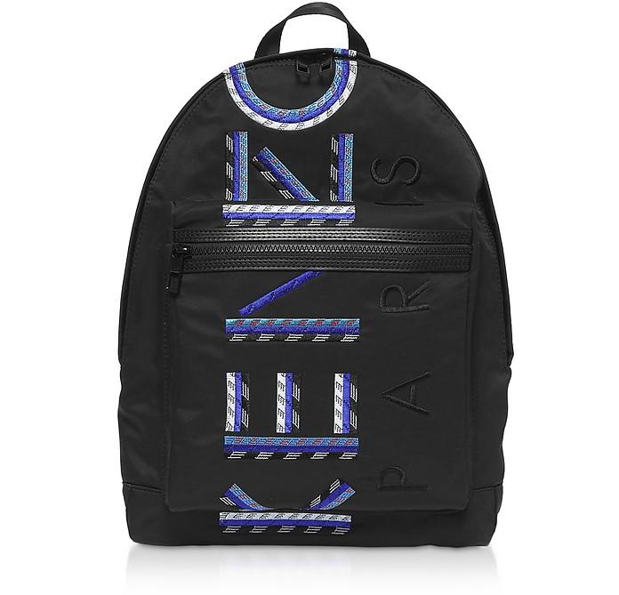 Black Nylon Sport Cord Backpack - Kenzo