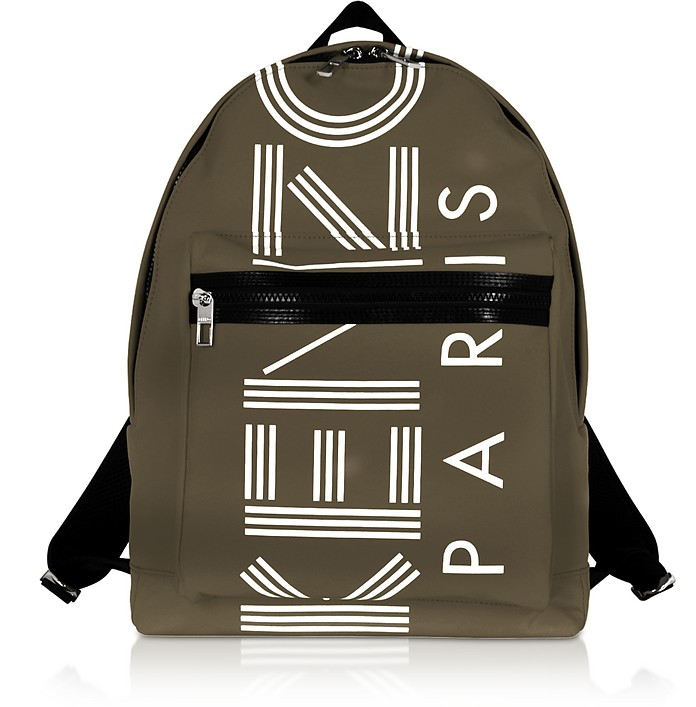 Nylon With Sport Logo Print  Backpack - Kenzo