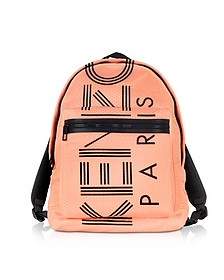 Sport Logo Print Nylon Backpack