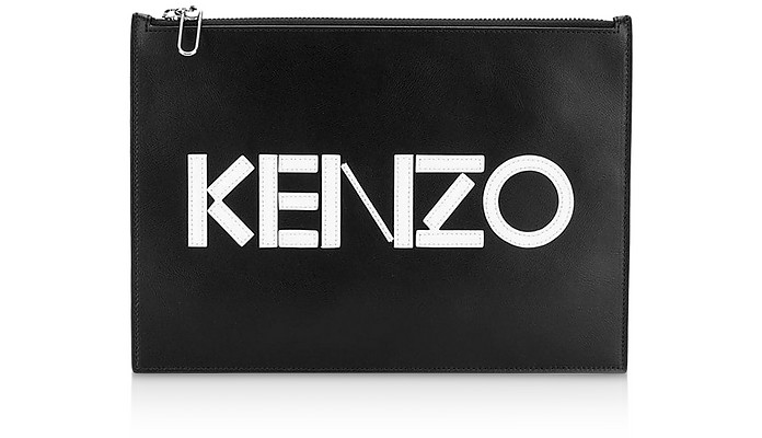 A4 KENZO Colorblock Leather Clutch - Kenzo