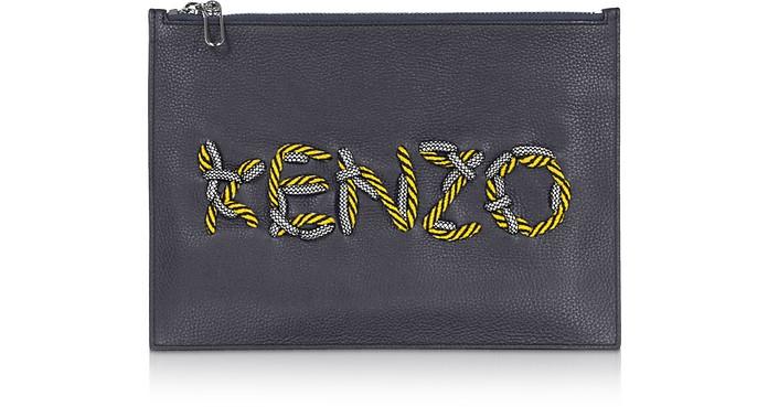 KENZO Cord Leather Clutch - Kenzo