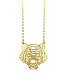 Gold Plated Tiger Necklace - Kenzo