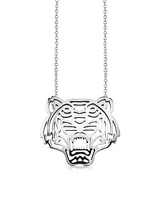 Sterling Silver Cut Out Tiger Necklace - Kenzo