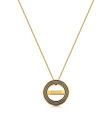 Goldtone Reversible Logo Necklace - Kenzo