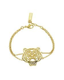 Gold Plated Tiger Bracelet  - Kenzo