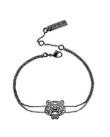 Ruthenium Plated Sterling Silver Cut Out Tiger Bracelet - Kenzo