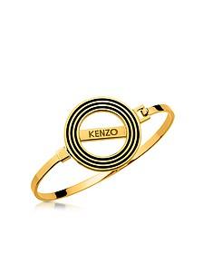 Goldtone Reversible Logo Bangle Bracelet - Kenzo