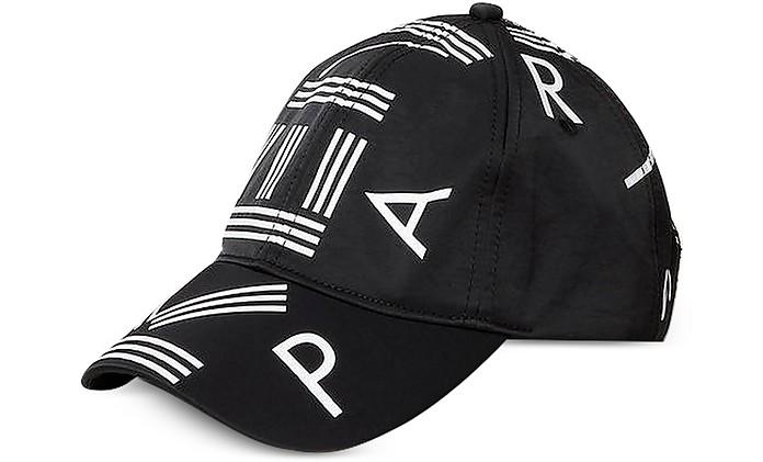 Black Nylon Kenzo Logo Sport Baseball Cap - Kenzo