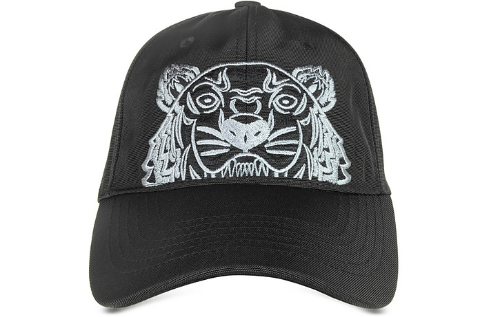15ba5da2 Black Canvas Tiger Baseball Cap