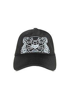 Black Canvas Tiger Baseball Cap - Kenzo