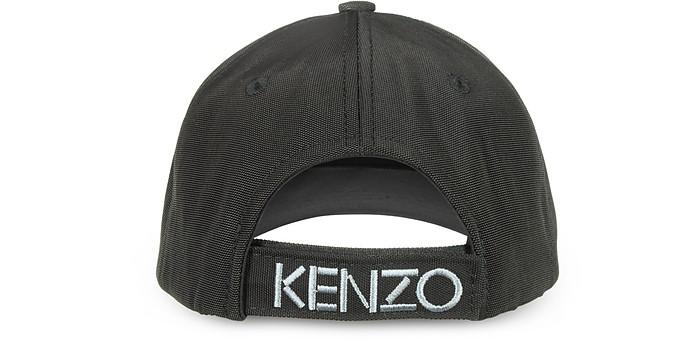 5c8fa39a19f Kenzo Black Canvas Tiger Baseball Cap at FORZIERI