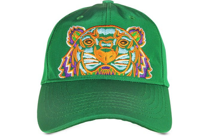 665e1b807b6 Kenzo Grass Green Canvas Tiger Baseball Cap at FORZIERI
