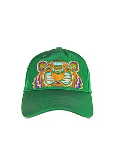 Grass Green Canvas Tiger Baseball Cap - Kenzo