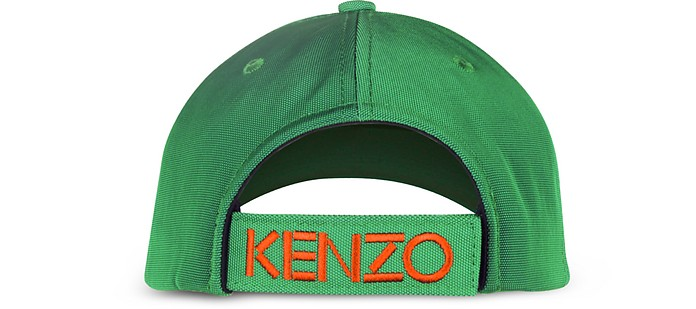 8fb938eeb9f Kenzo Grass Green Canvas Tiger Baseball Cap at FORZIERI UK