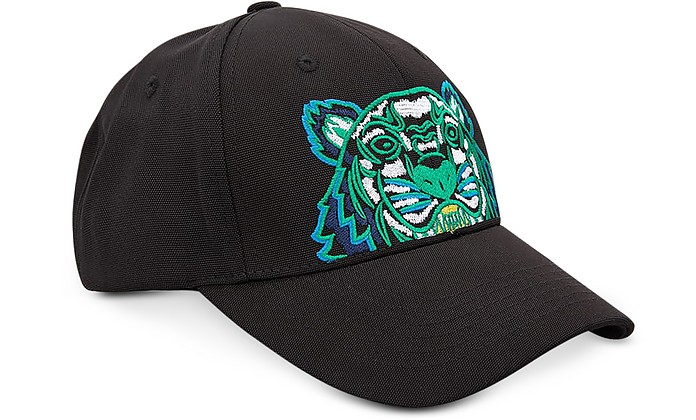 88e75c8aade Kenzo Kenzo Tiger Black   Blue Canvas Hat at FORZIERI UK