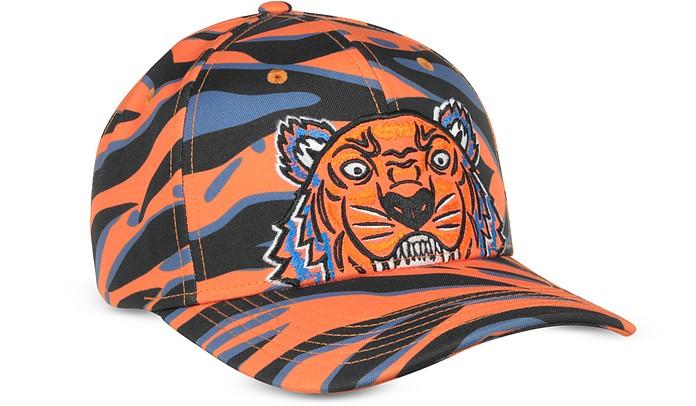 Kenzo Tiger Orange Cotton Hat - Kenzo