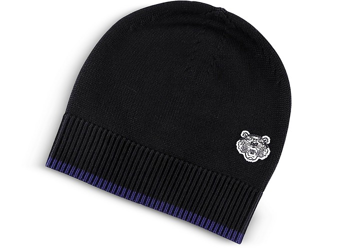 Wool Signature Tiger Crest Beanie - Kenzo