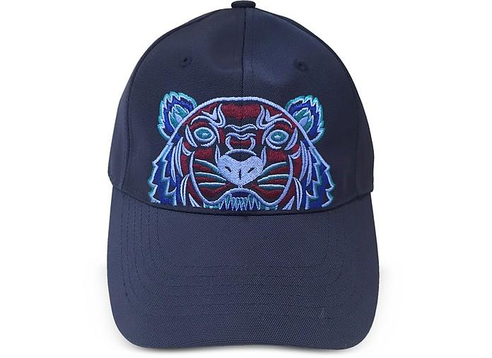 Navy Blue Tiger Canvas Cap - Kenzo