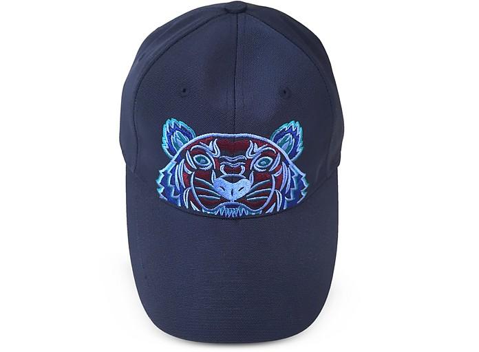 a569272c28d Kenzo Navy Blue Tiger Canvas Cap at FORZIERI