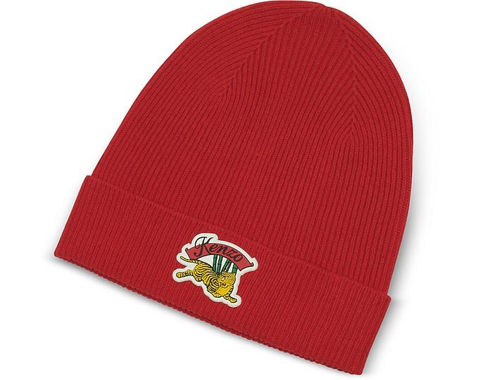 Cappello in Lana con Logo Jumping Tiger  - Kenzo