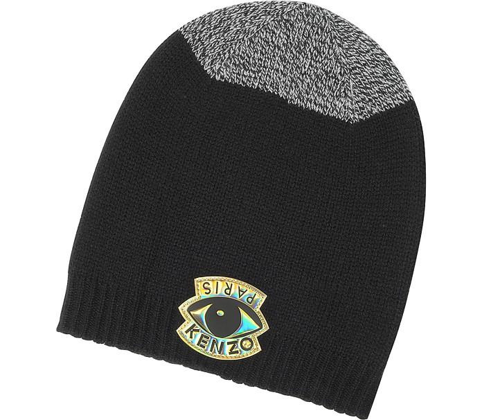 Kenzo Signature Color Block Wool Eye Beanie at FORZIERI 53835e3bcdb