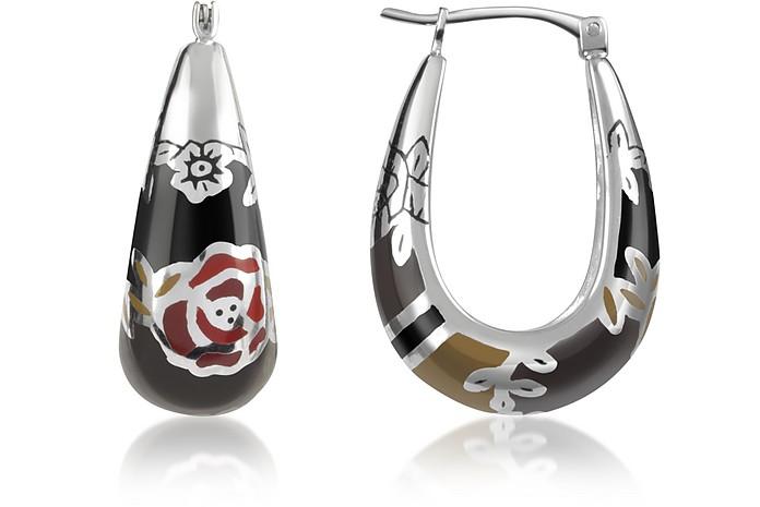Fedora - Sterling Silver Earrings - Kenzo
