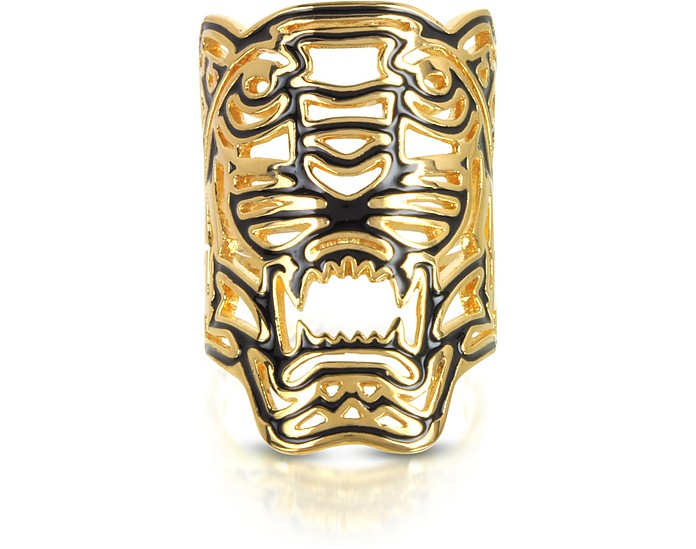 Gold Plated Maxi Tiger Ring - Kenzo