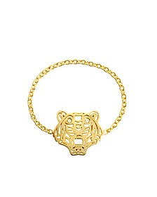 Gold Plated Mini Tiger Ring - Kenzo