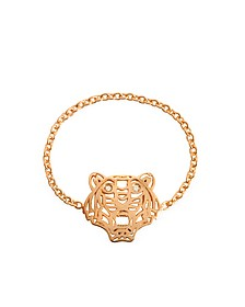 Rose Gold Plated Mini Tiger Ring - Kenzo