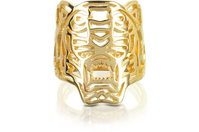 Gold Plated Tiger Ring - Kenzo