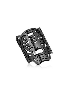 Ruthenium Plated Sterling Oversized Tiger Ring - Kenzo