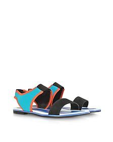 Tao Color Block Nabuck and Neoprene Flat Sandal