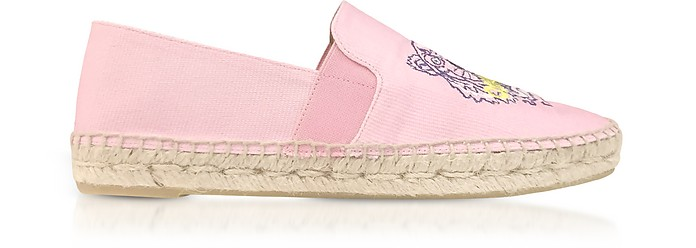 Flamingo Pink Canvas Women's Tiger Espadrilles - Kenzo