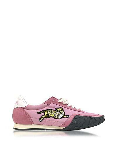 Flamingo Pink Nylon and Suede Kenzo Move Women's Sneakers - Kenzo