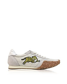 Pale Grey Nylon and Suede Kenzo Move Women's Sneakers - Kenzo