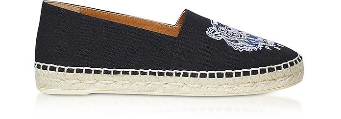 Black Canvas and Jute Espadrilles - Kenzo