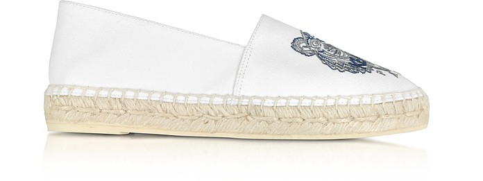 White Canvas and Jute Espadrilles - Kenzo