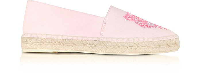 Pastel Pink Canvas and Jute Espadrilles - KENZO / ケンゾー