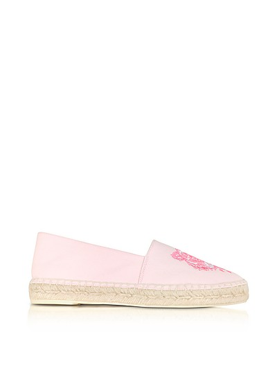 Pastel Pink Canvas and Jute Espadrilles - Kenzo