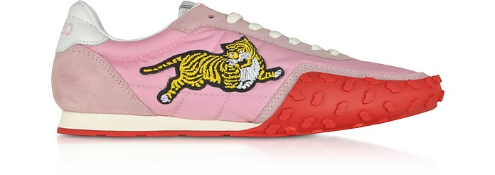 Pastel Pink Nylon Kenzo Move Women's Sneakers - Kenzo