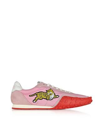 Pastel Pink Nylon Kenzo Move Women s Sneakers - Kenzo fc303a2734f