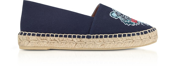 Canvas Tiger Head Embroidery Specail Fit Espadrillas - Kenzo