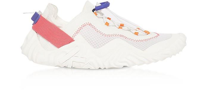White Mesh Kenzo Wave Low Top Sneakers - Kenzo