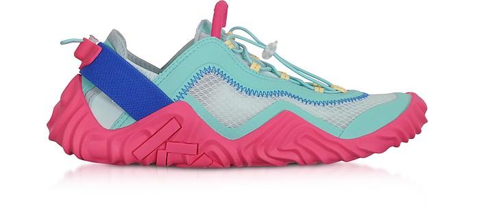 Aqua Mesh Kenzo Wave Low Top Sneakers - Kenzo