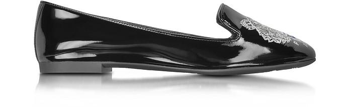 Black Patent Leather Tiger Slipper - Kenzo
